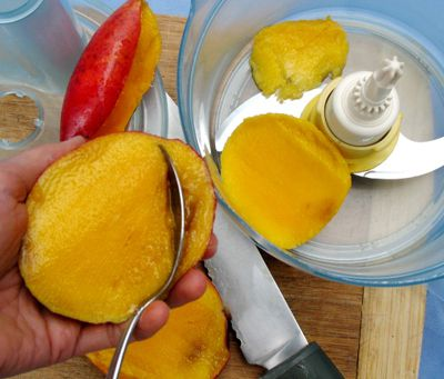 Scooping Out Mango