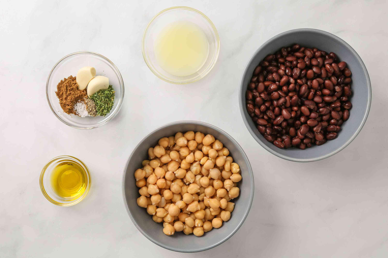 No Tahini Vegan Black Bean Hummus ingredients