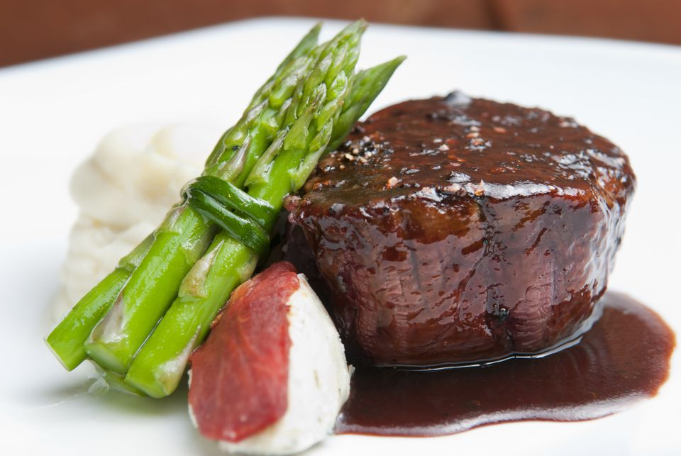Filet mignon with madeira sauce