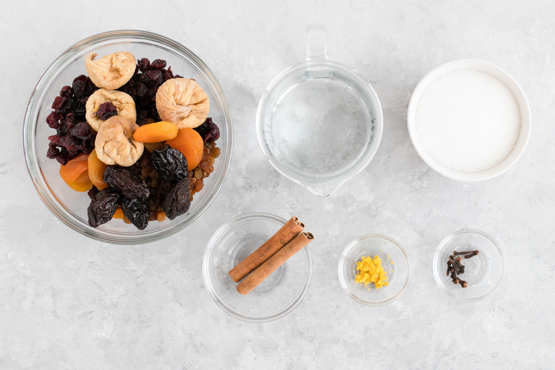 Polish Dried Fruit Compote (Kompot) Recipe ingredients