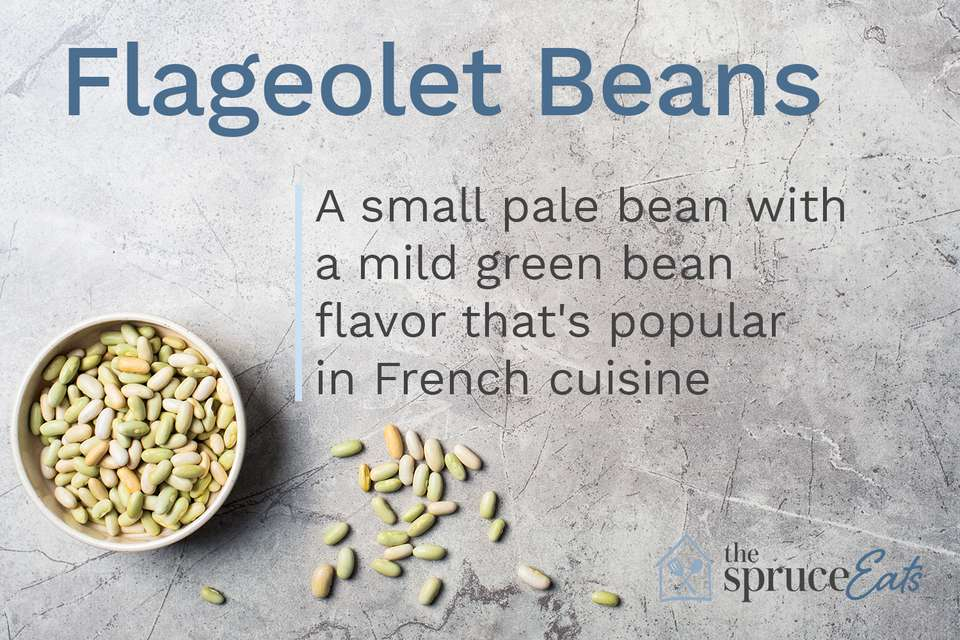 Photo with flageolet beans explaining what they are