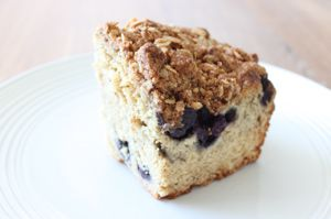 Ricotta blueberry coffee cake