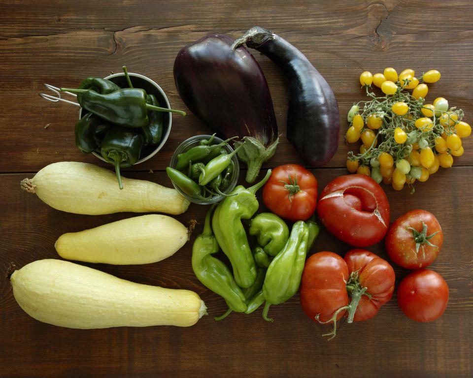 Summer harvest vegetables