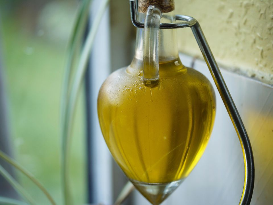 Olive oil in a jar