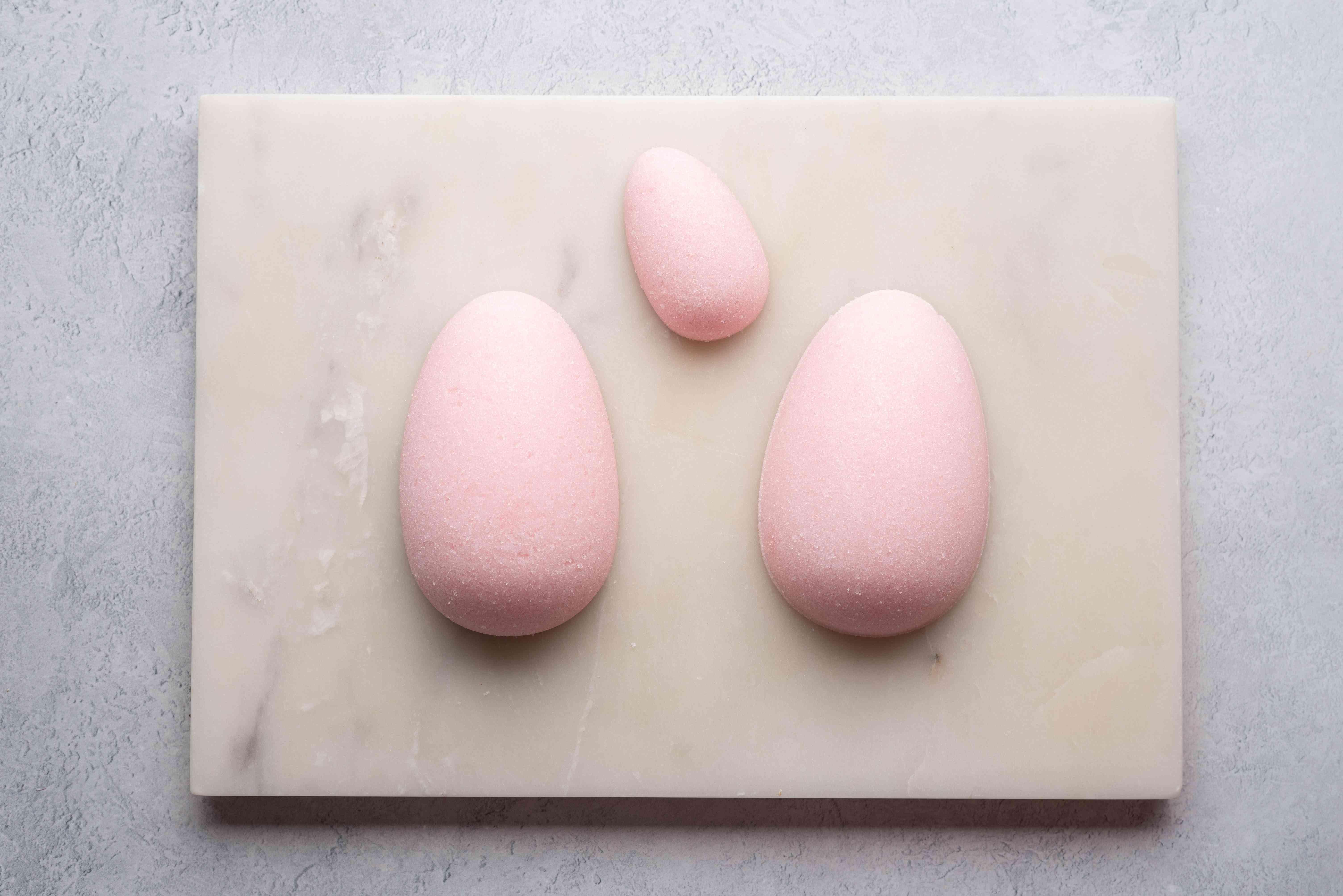 unmolded sugar eggs