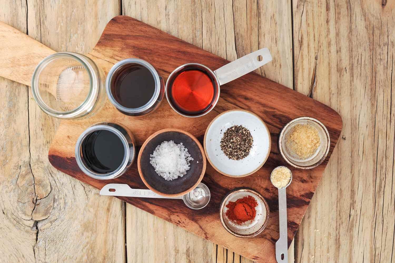 Ingredients for oven beef jerky