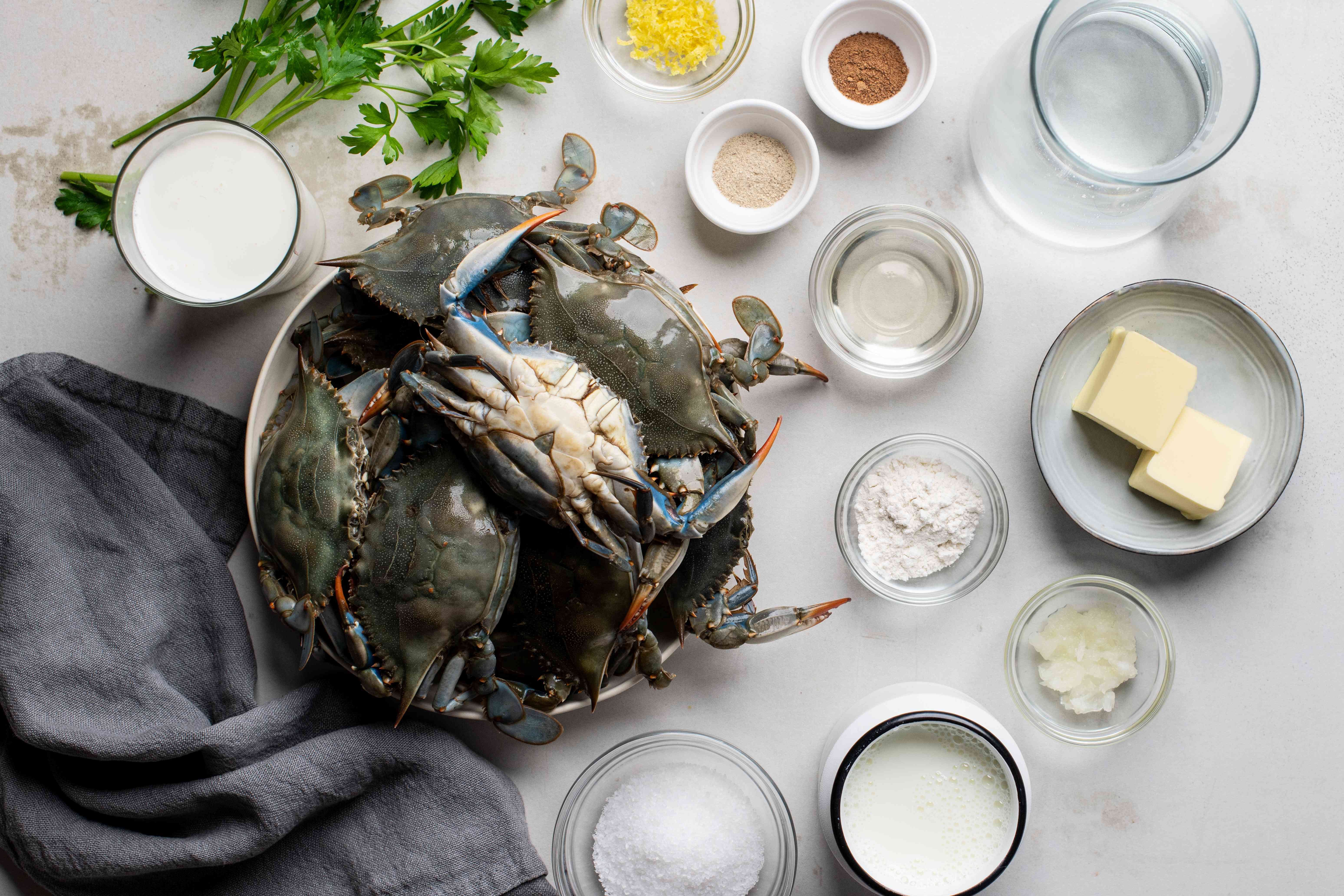 Ingredients for she crab soup
