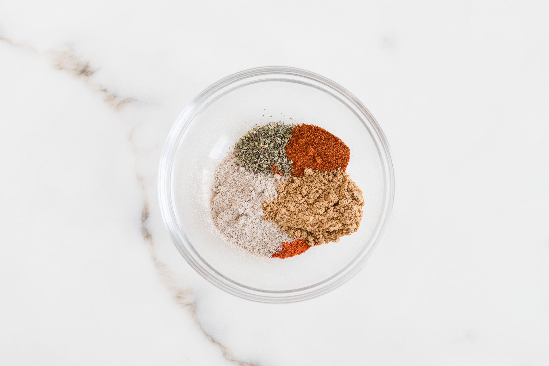 Chili powder ingredients in bowl