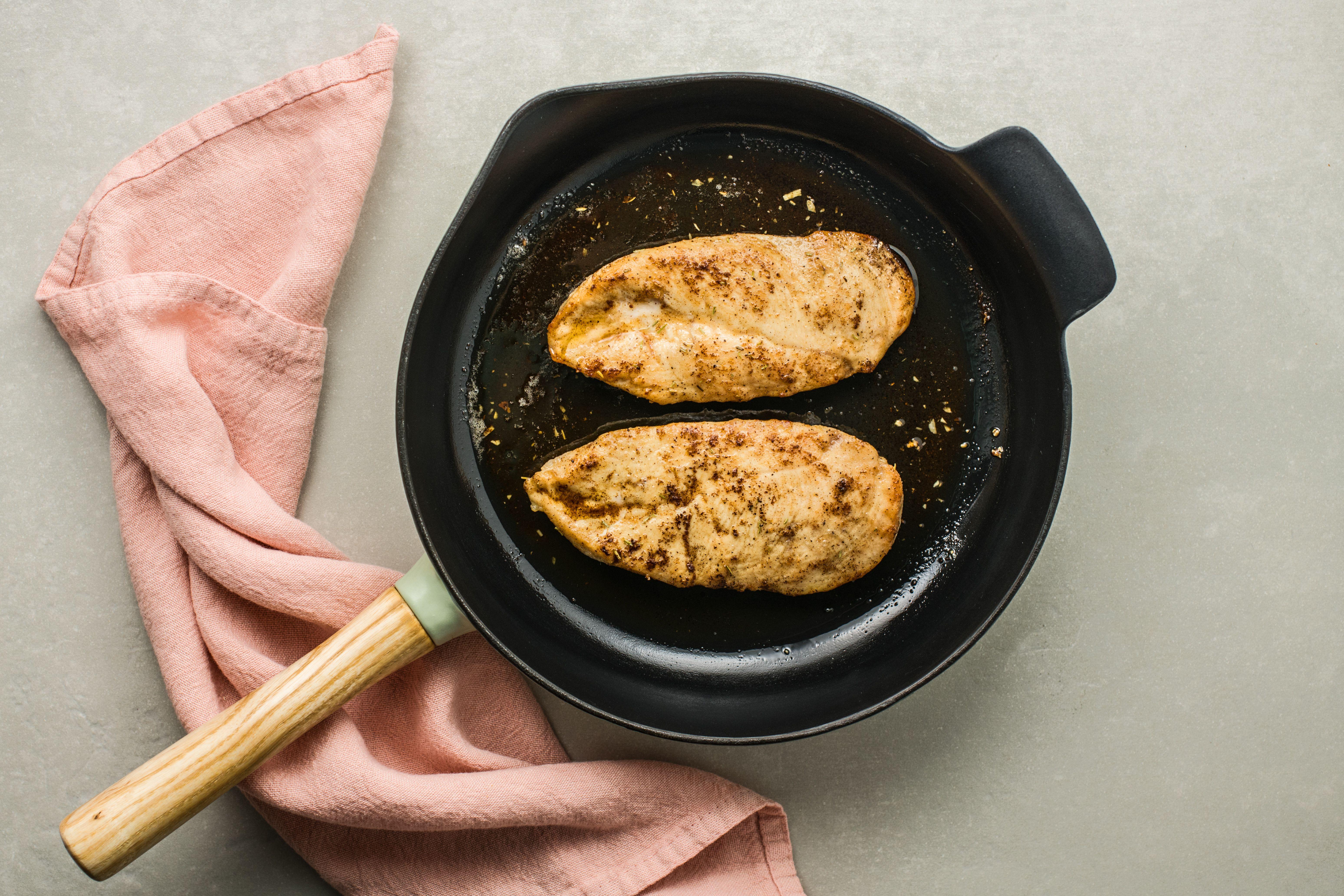 Chicken in skillet