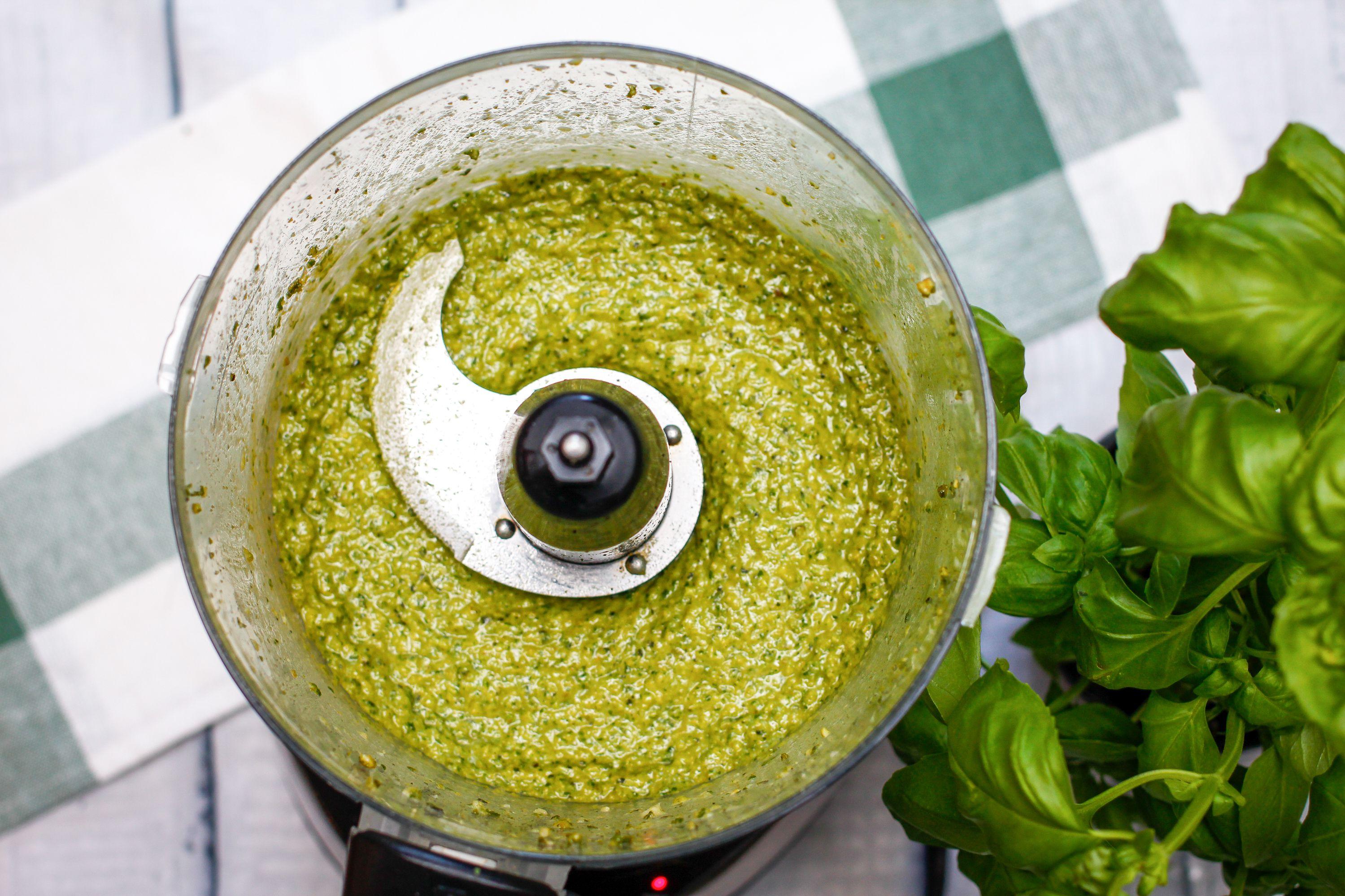 Vegan Pesto in a food processor