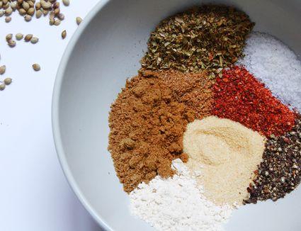spices for homemade sazon seasoning