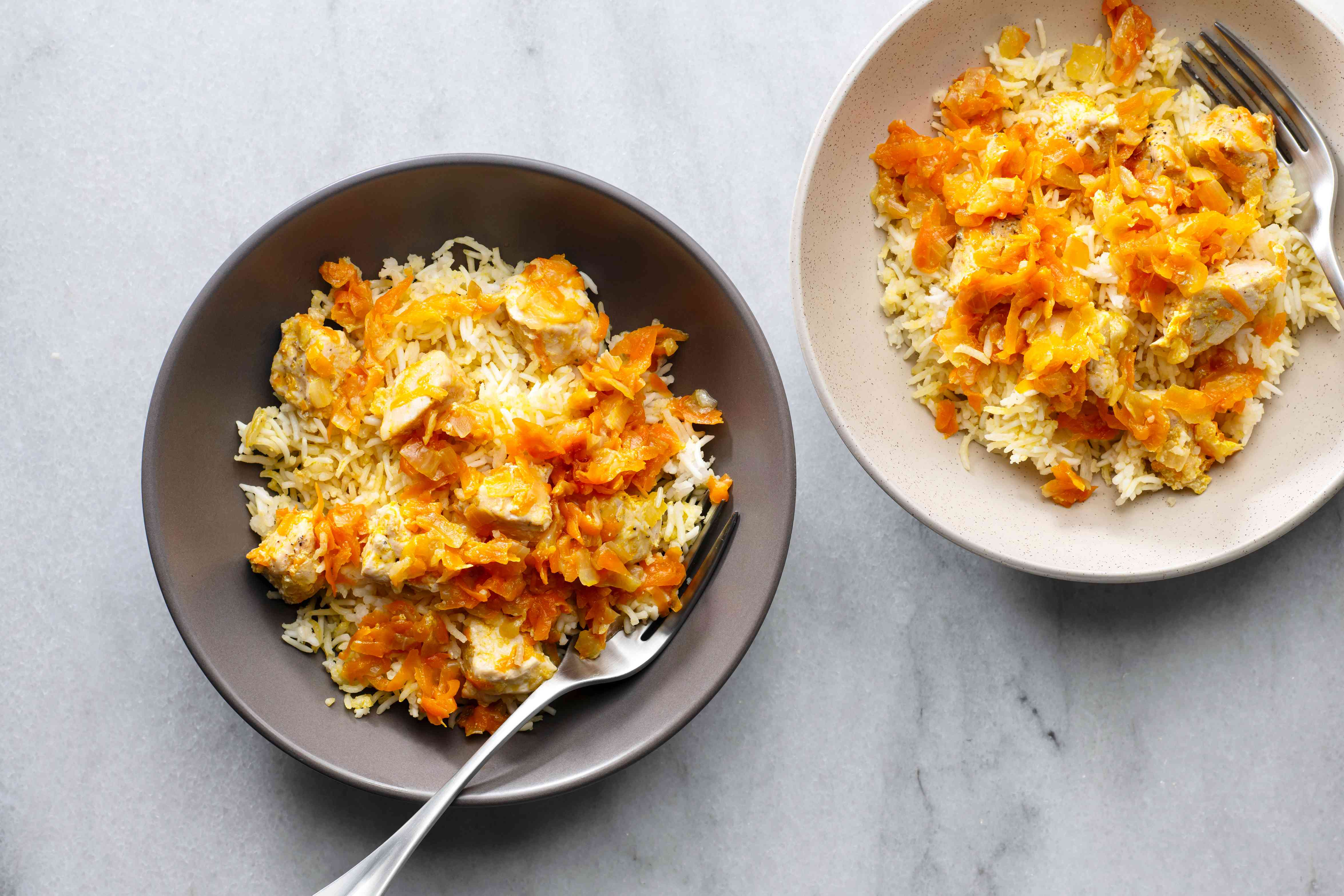 Bukharan Chicken and Rice Plov With Vegetables