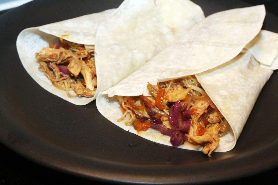 Moo Shu Chicken Wraps