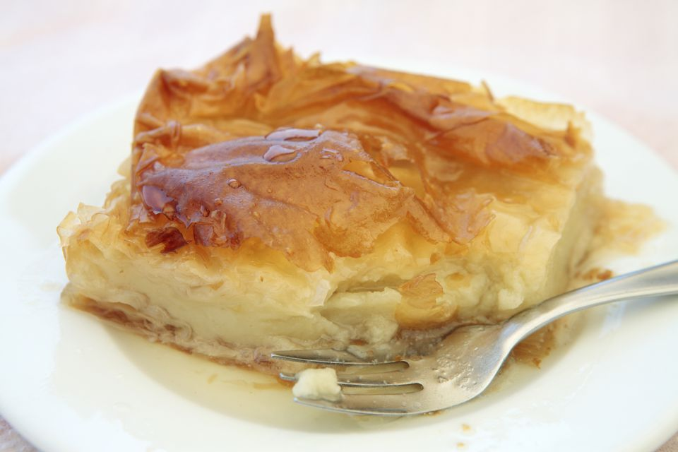 Galaktoboureko, Greek custard tart