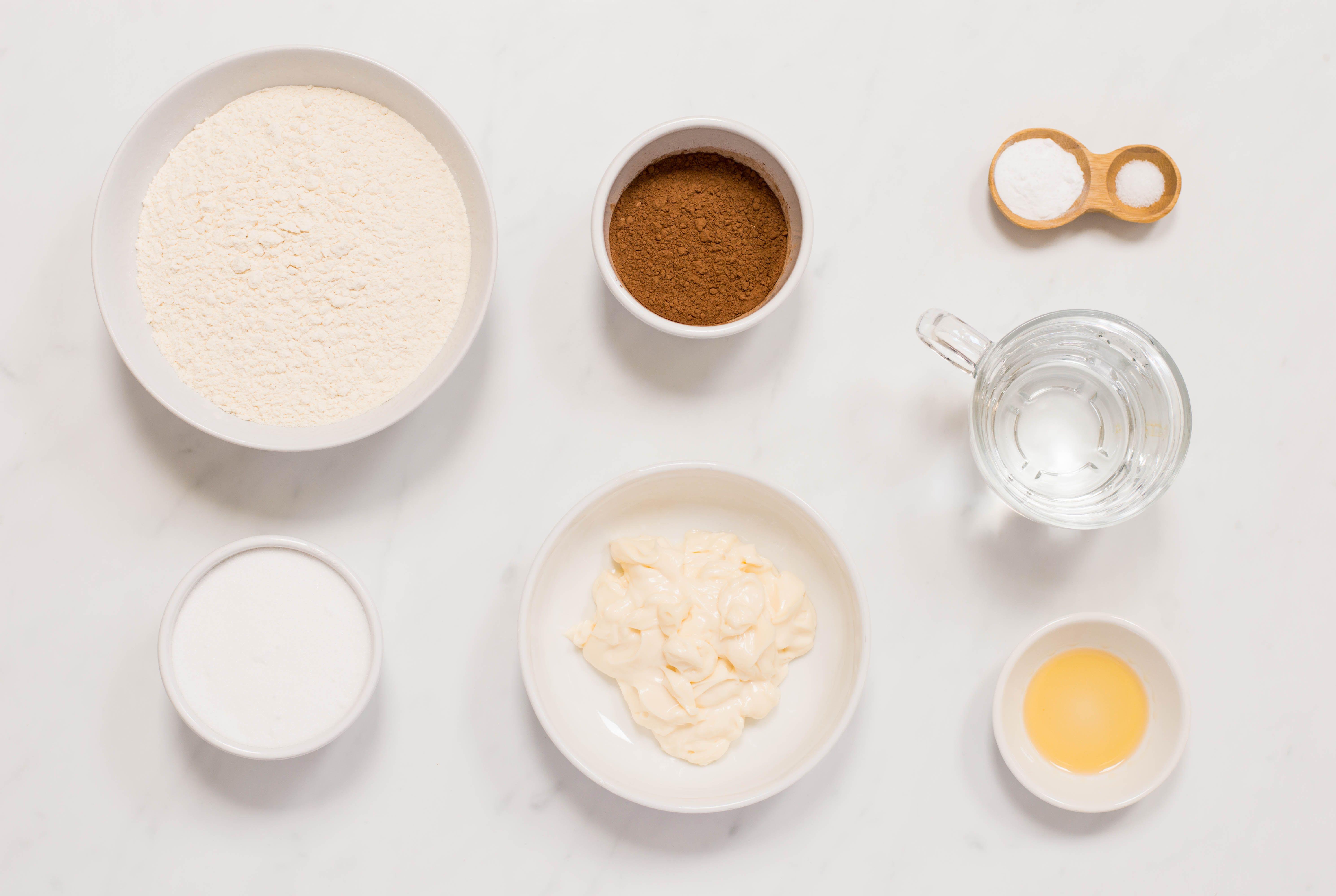 Chocolate Mayonnaise Cake recipe ingredients