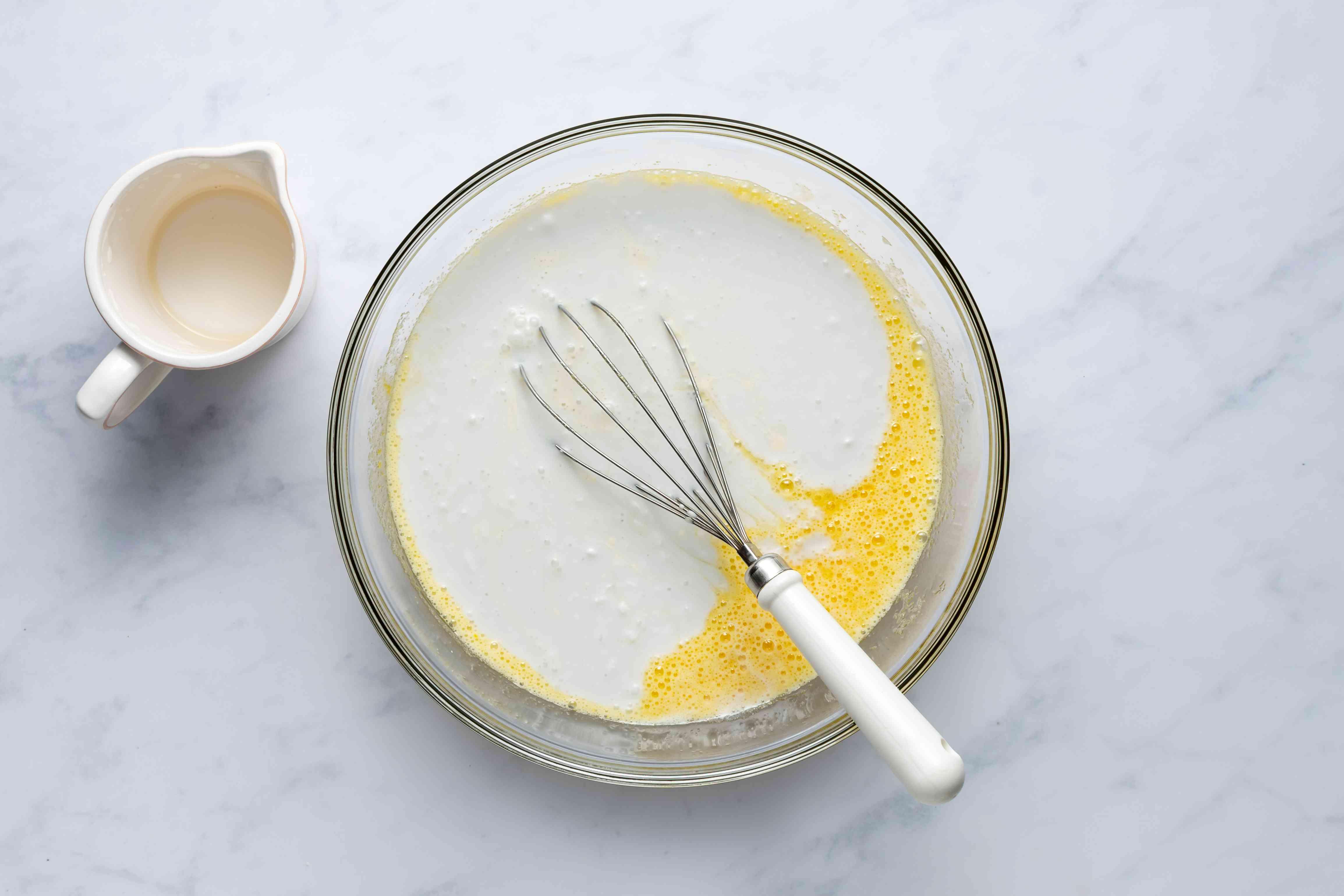 Whisk in butter for mochi cake