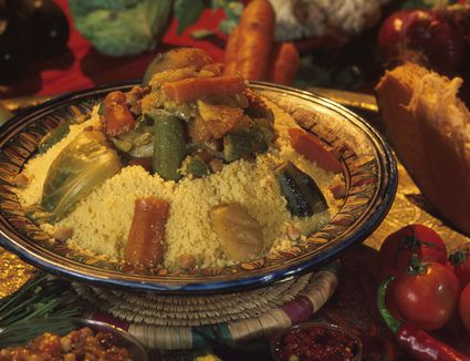 Moroccan couscous with vegetables