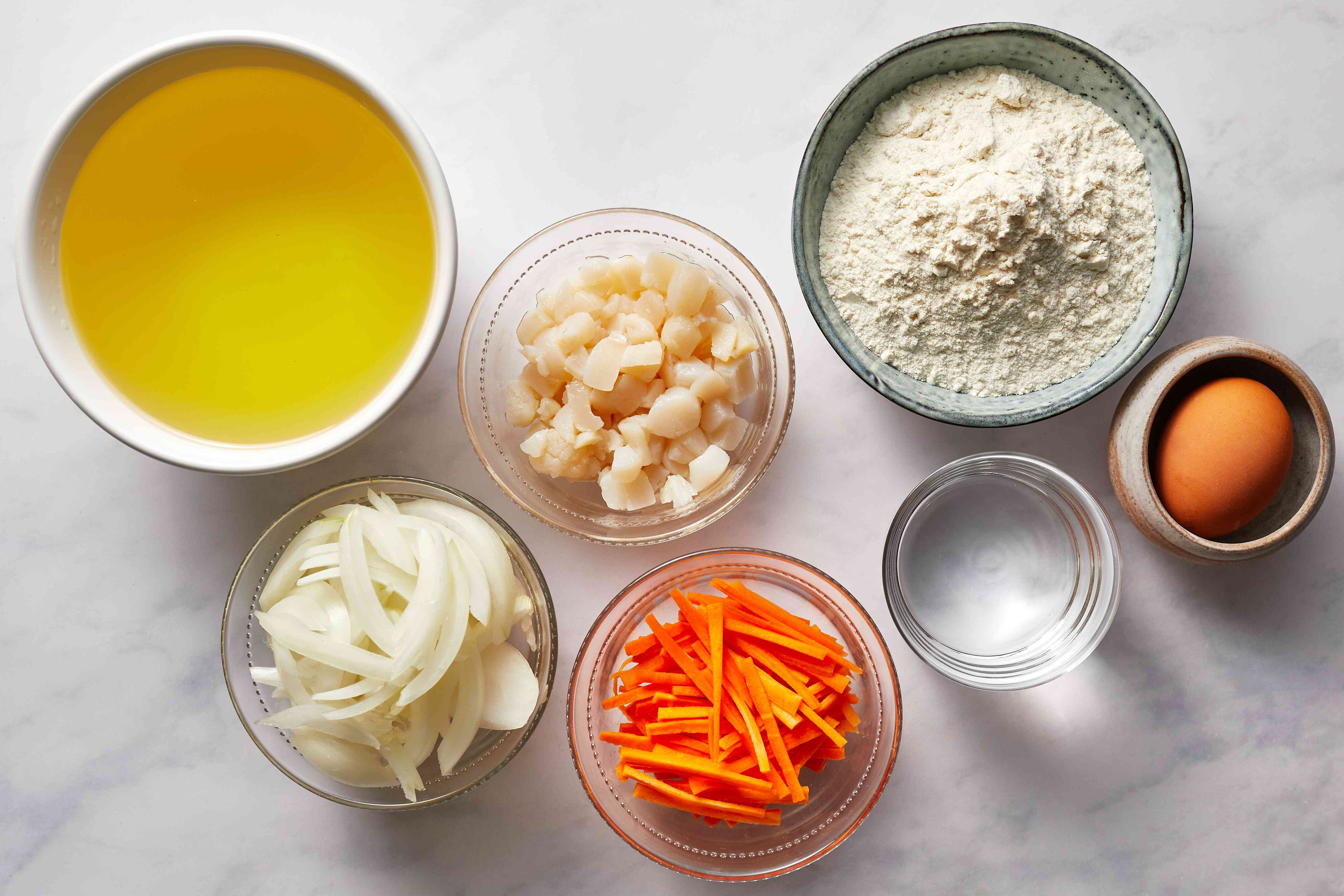 Kakiage Tempura ingredients