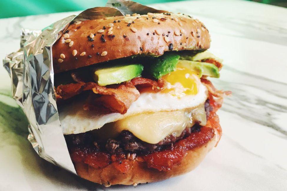 Avocado Bacon Breakfast Burger