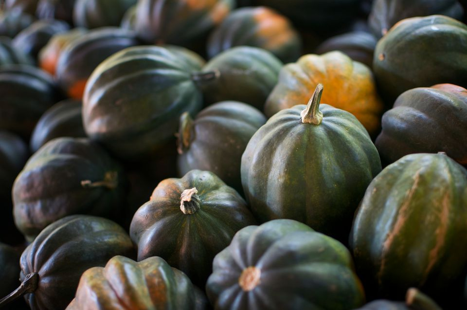 Acorn squash at a farmers' market