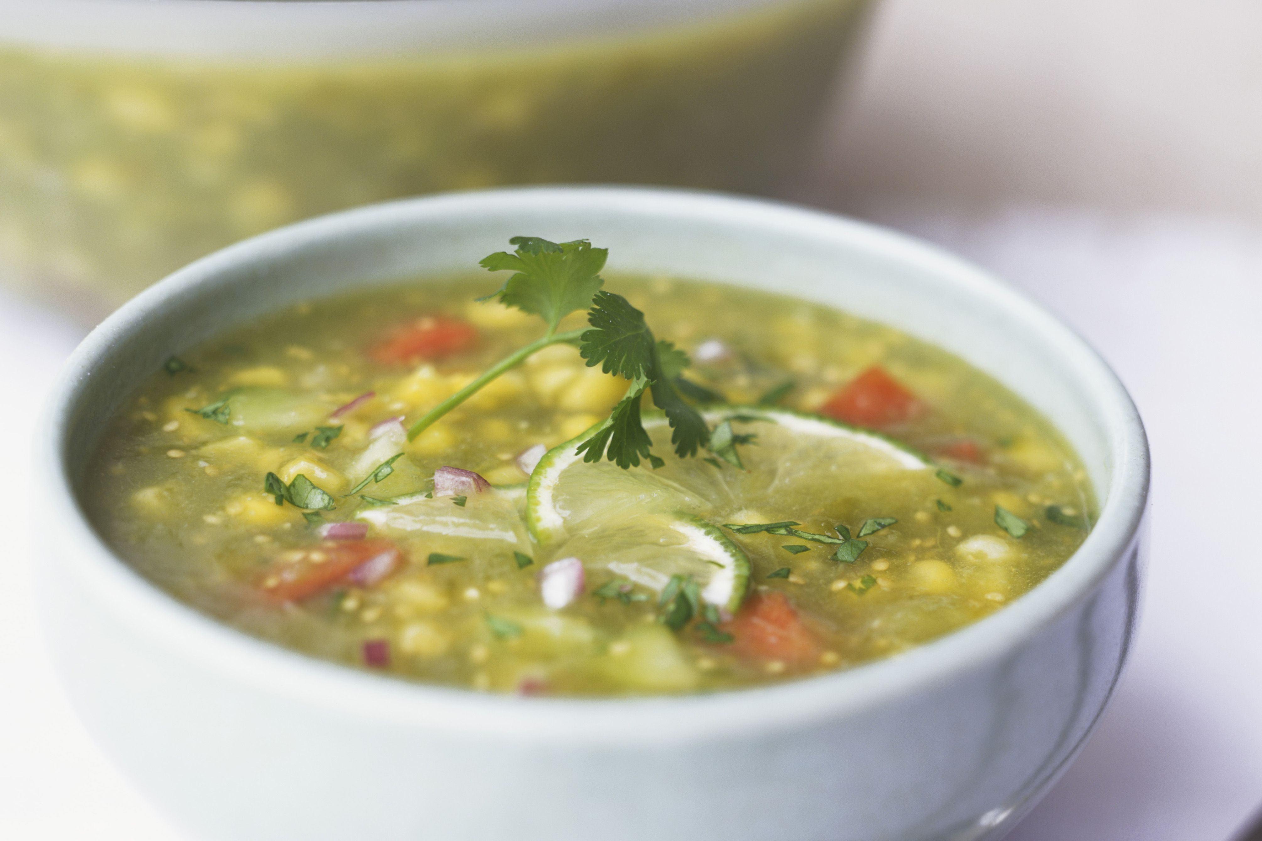 Easy and Flavorful Green Tomato Soup With Country Ham