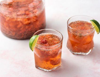 Strawberry or Lime Mint Chia Fresca