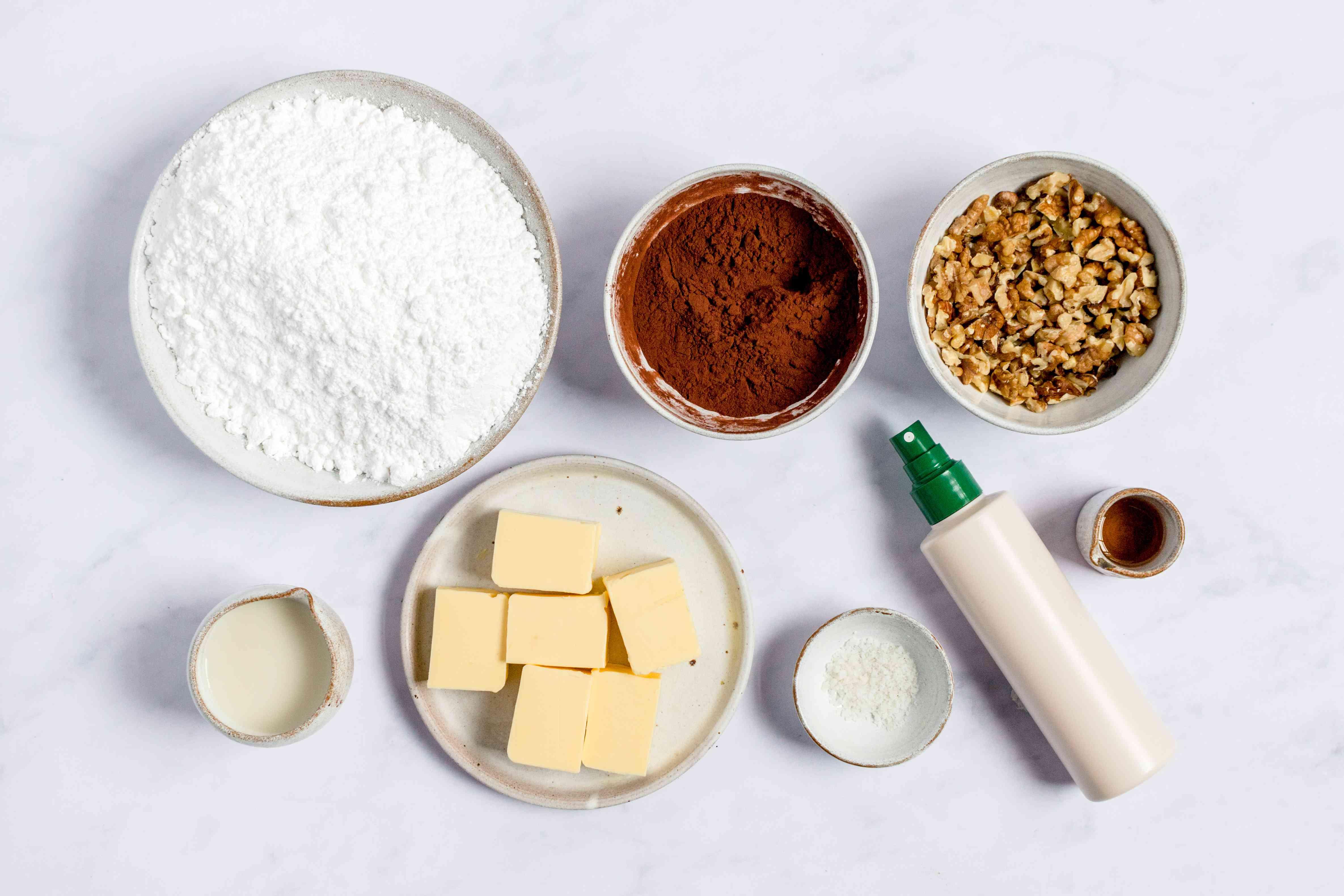 Dairy-free and vegan fudge ingredients