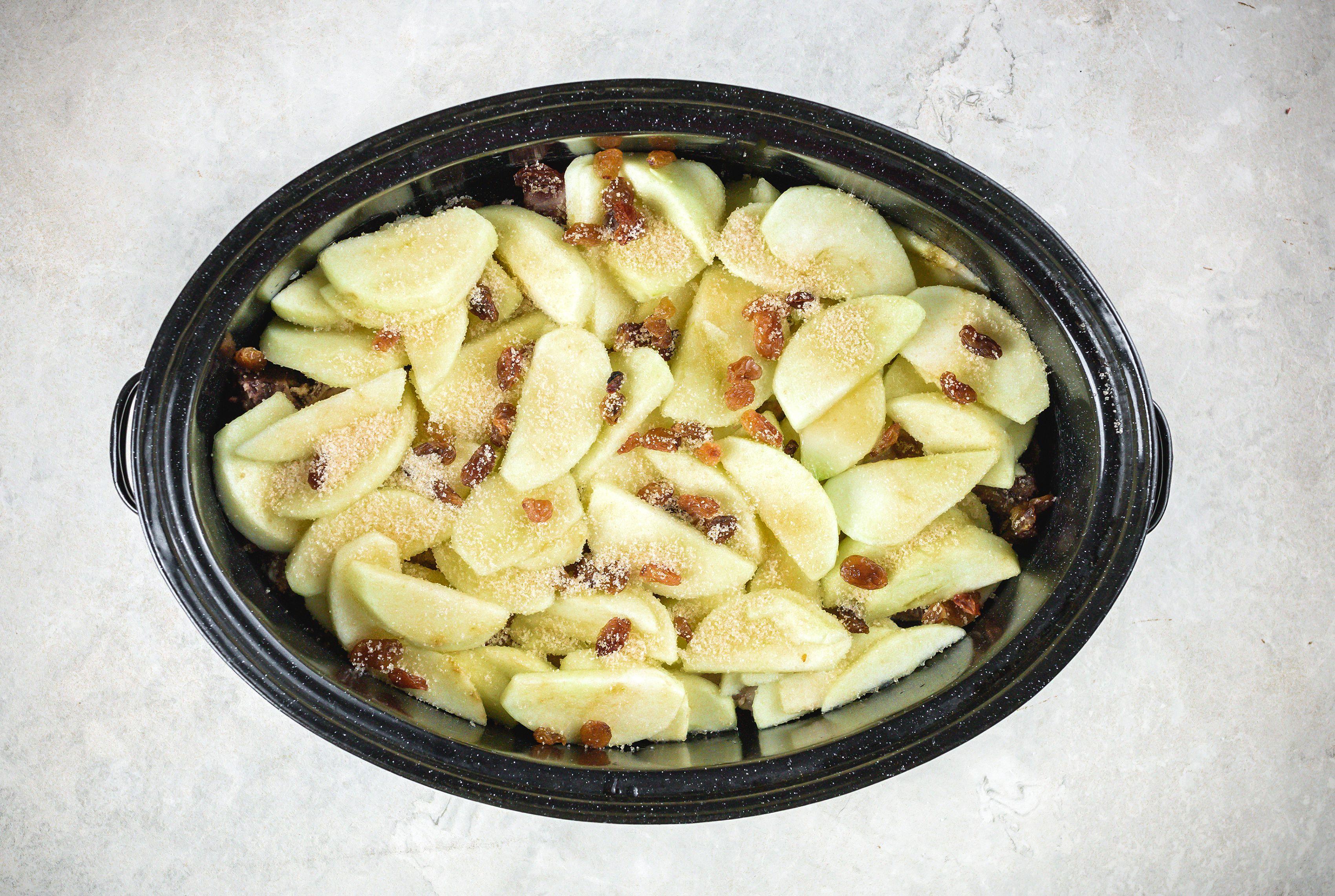 Apples in slowcooker