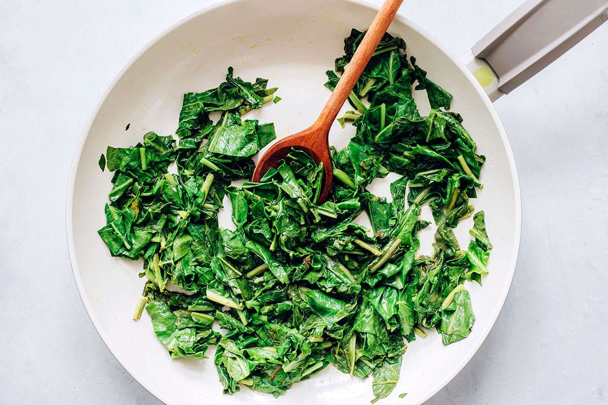 melt the butter and sauté the sorrel in a skillet