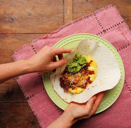 the ultimate breakfast burrito