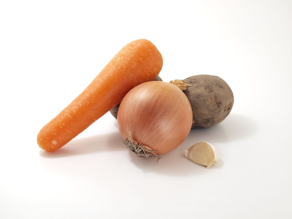Ingredients for carrot mashed potatoes