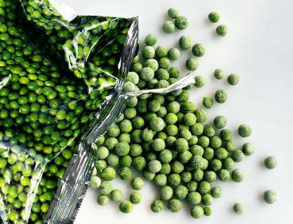 bag of frozen peas