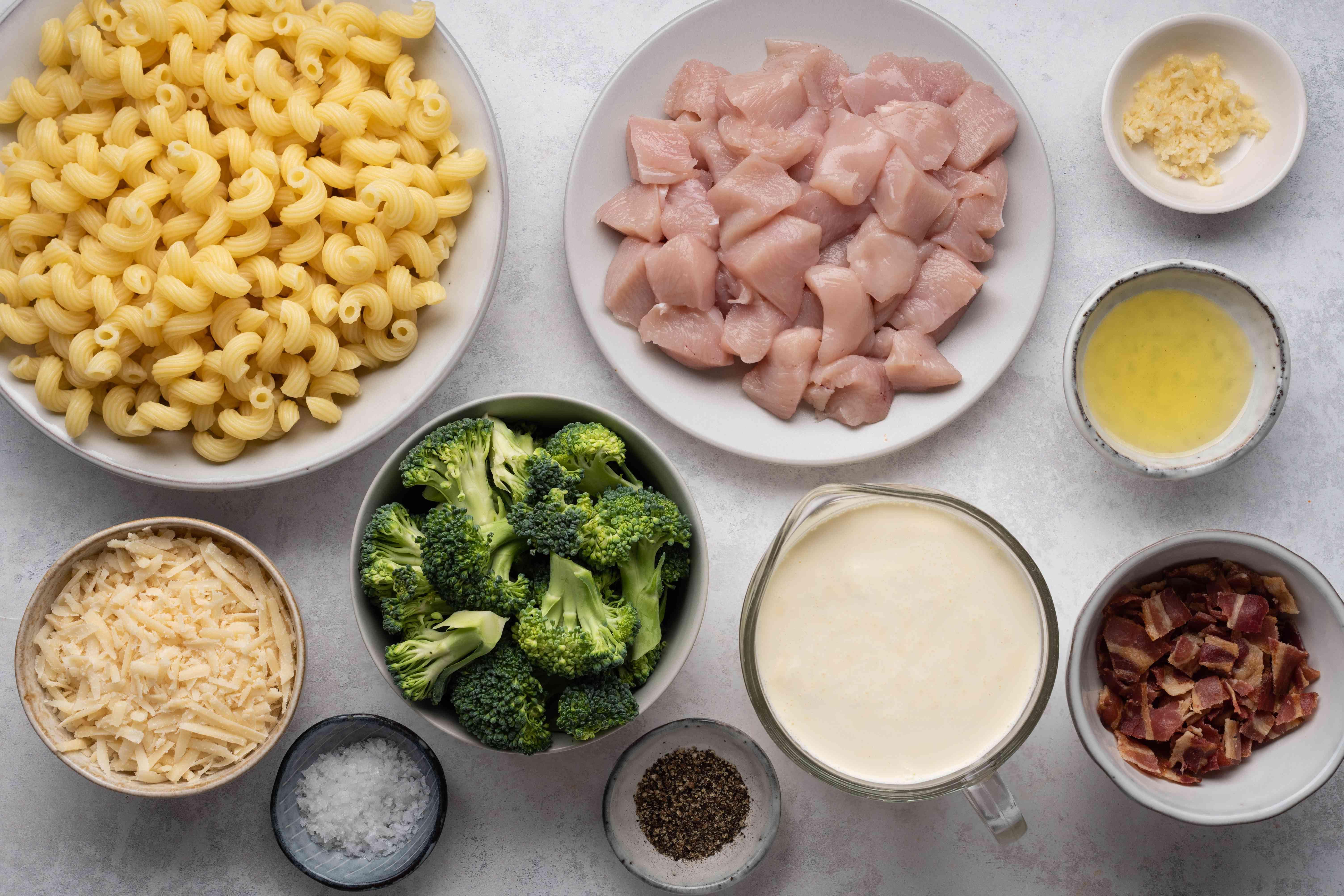Chicken Broccoli Alfredo ingredients