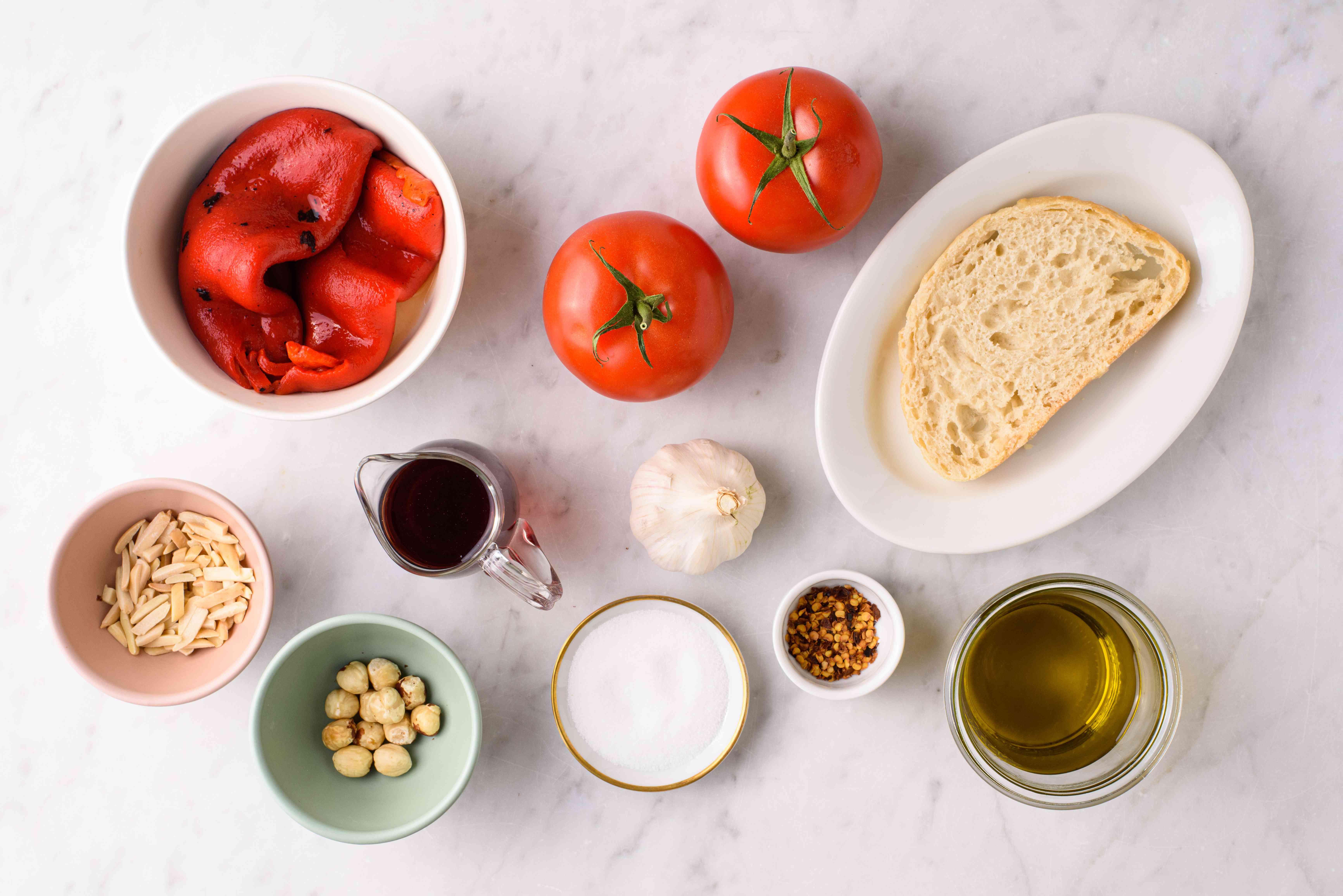 Ingredients for romesco sauce