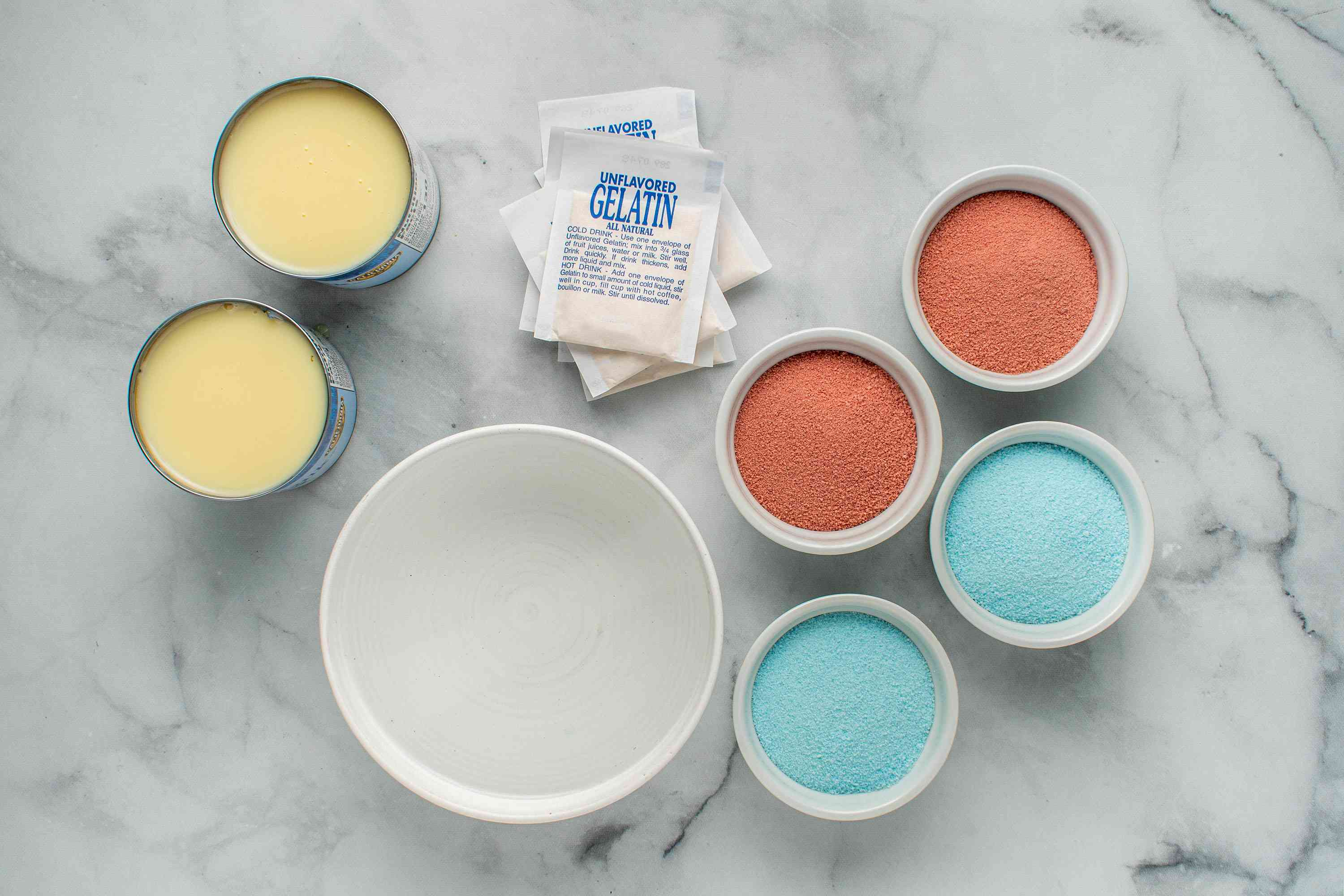 Red, White, and Blue Jello Squares ingredients