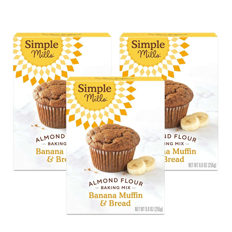 Simple Mills Almond Flour Baking Mix Gluten Free Banana Muffin & Bread
