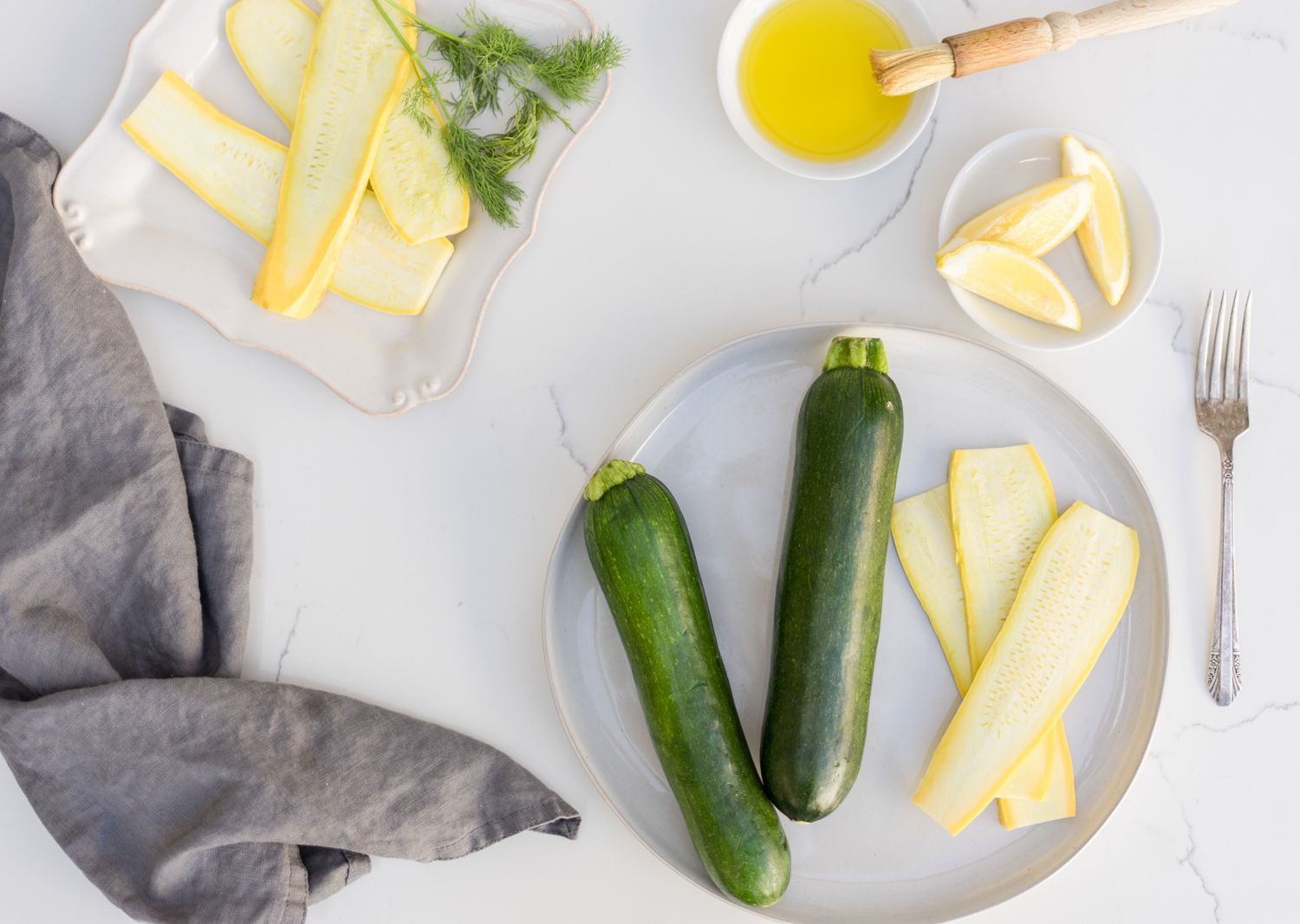Grilled Zucchini and Summer Squash Recipe Ingredients