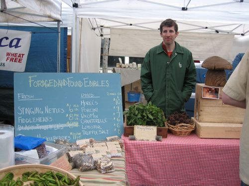 Jeremy Faber of Foraged and Found Edibles at the Ballard Farmers' Market in Seattle
