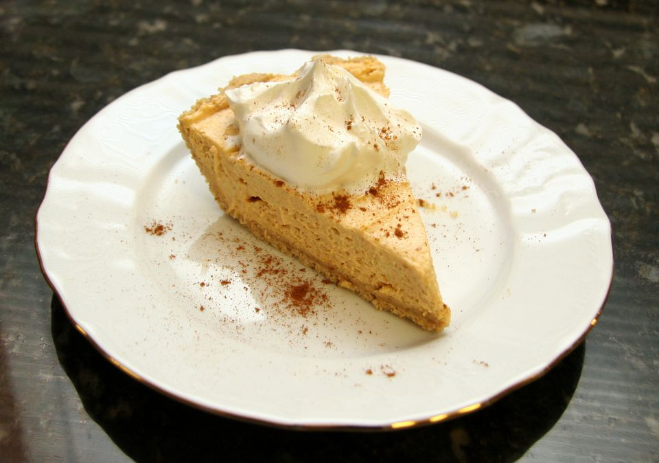 Pumpkin butter pie in cookie crust