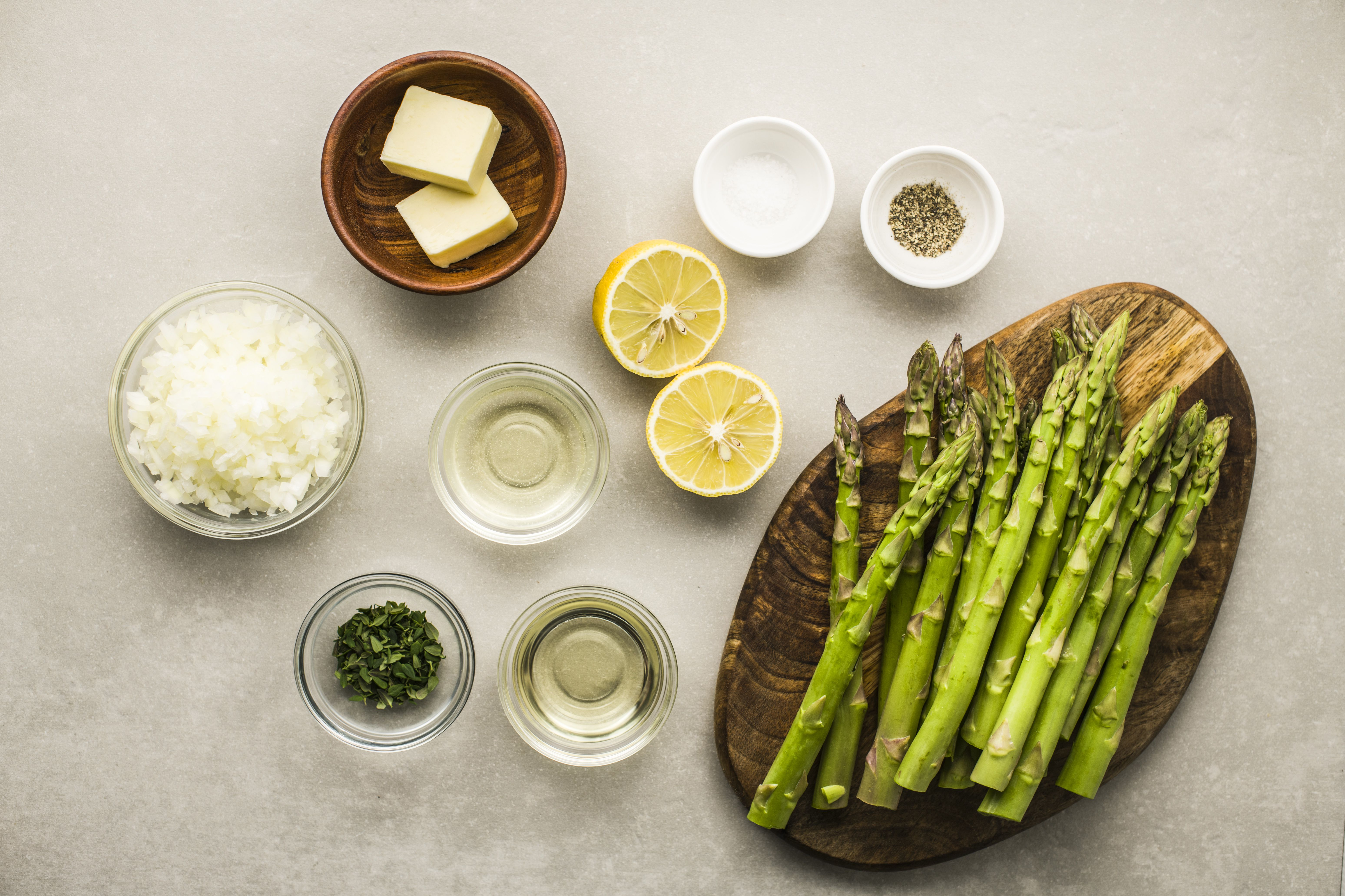 Ingredients for sauteed asparagus