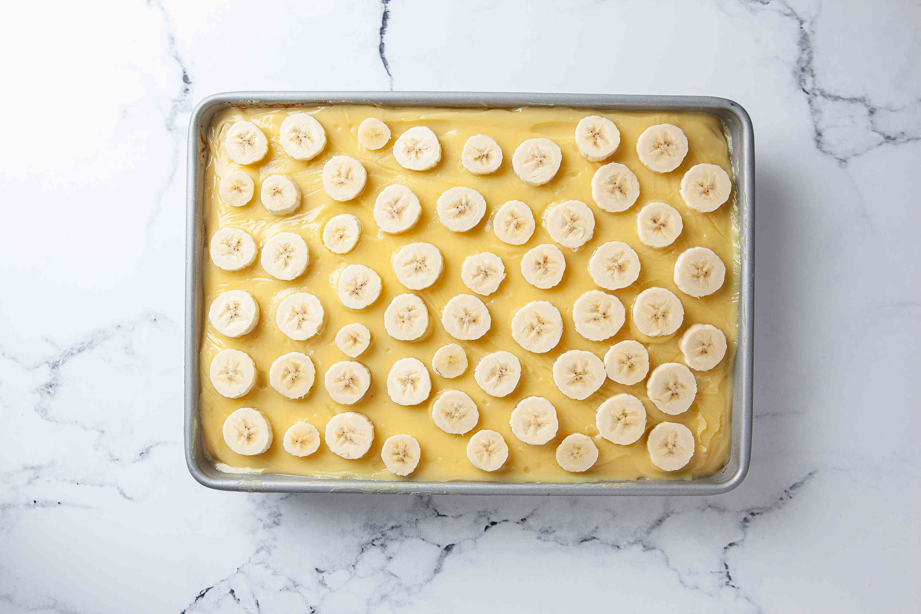 Top with sliced bananas