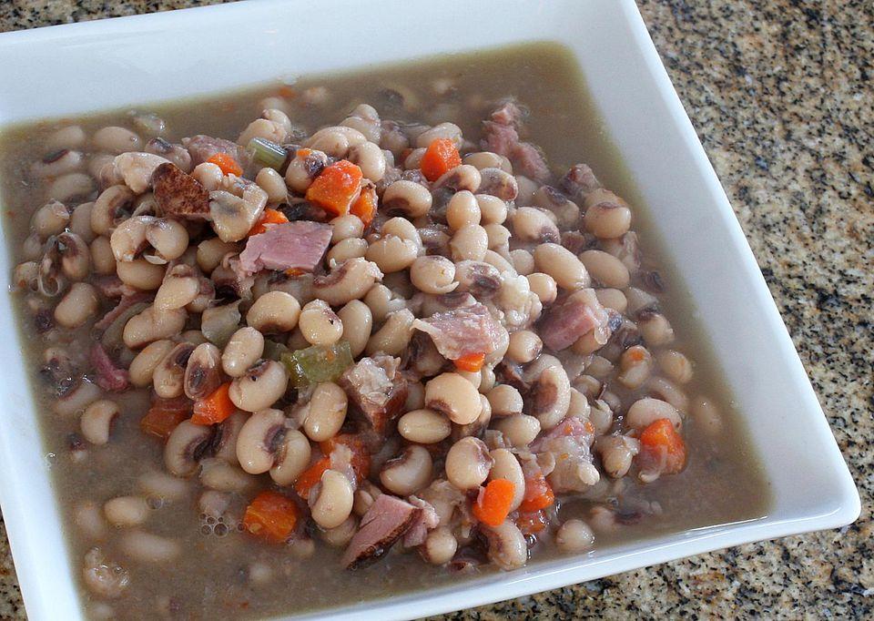 Crockpot Black-Eyed Peas and Ham