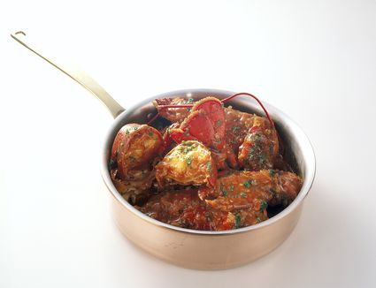 lobster recipe, american, flambe, flame, cognac, seafood receipts