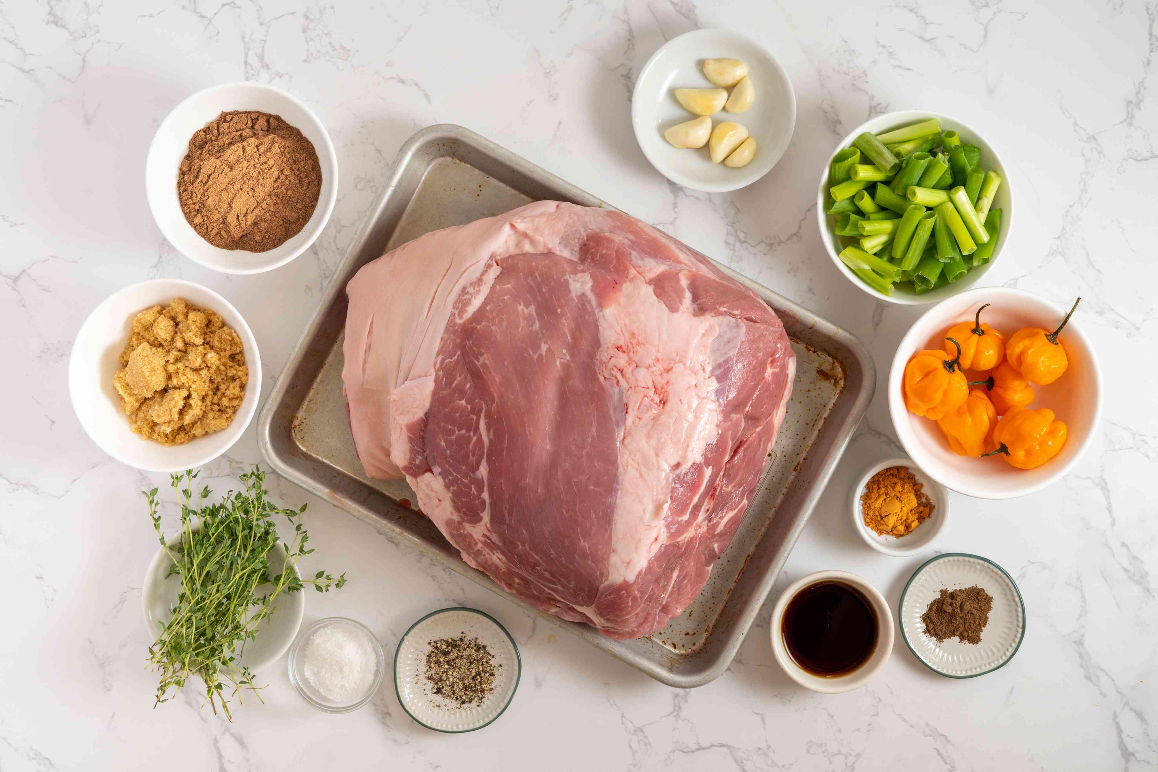 Jamaican Oven Jerk Pork Shoulder ingredients