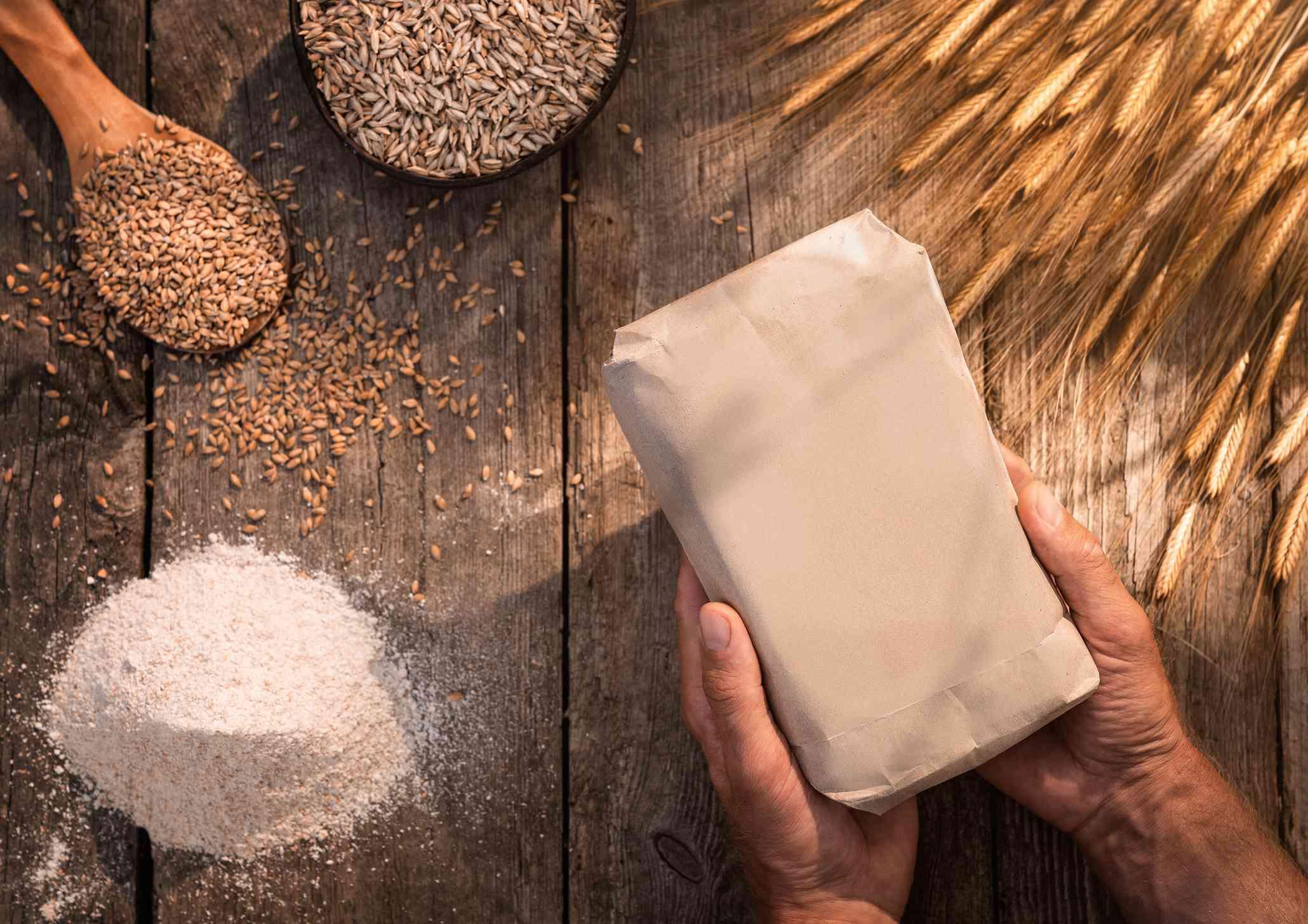 Einkorn wheat flour