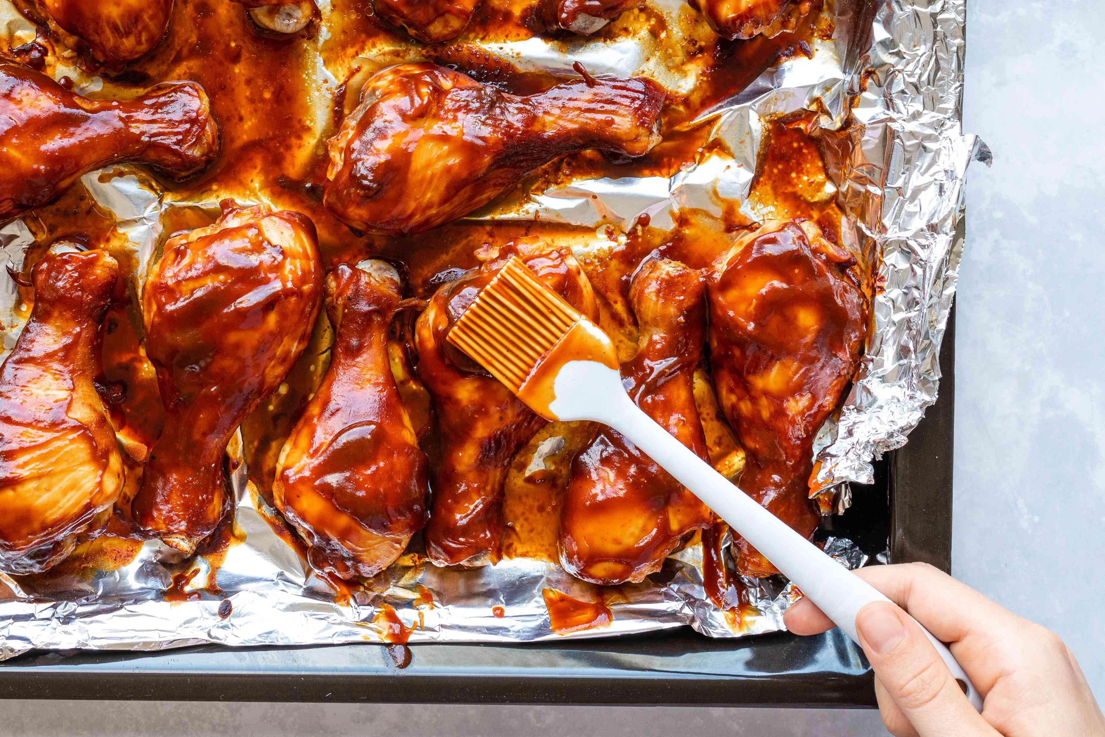 Baste the chicken