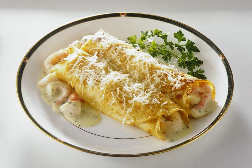 Seafood Crepes With Shrimp & Lobster