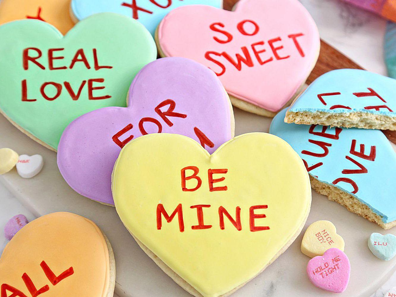 conversation heart sugar cookies 3 589da6725f9b c460ce2