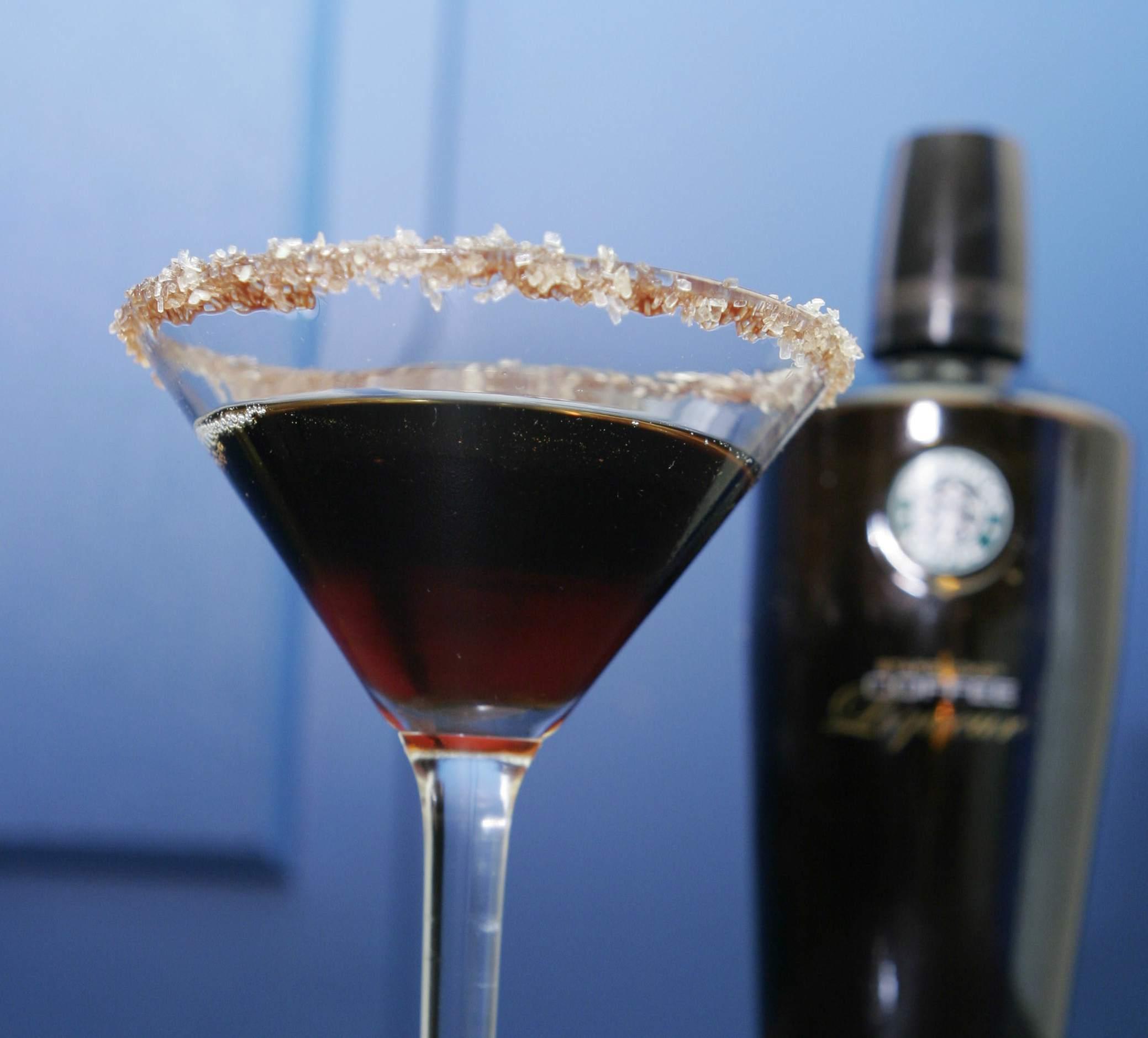 Mochatini cocktail