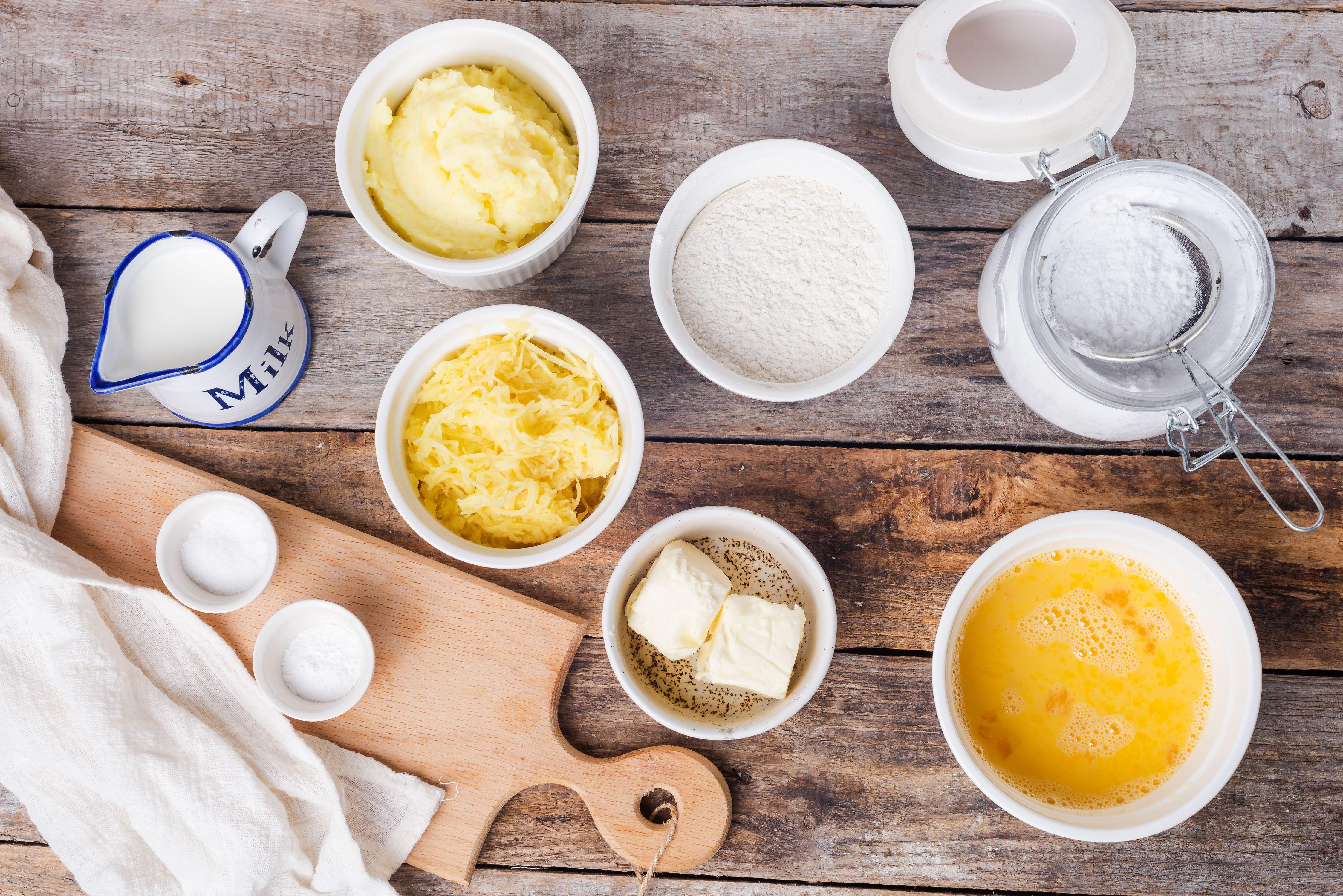 Ingredients for Irish potato cakes